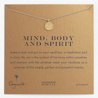 Women's Dogeared 'Mind, Body & Spirit' Om Pendant Necklace