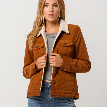 SKY AND SPARROW Corduroy Sherpa Womens Jacket
