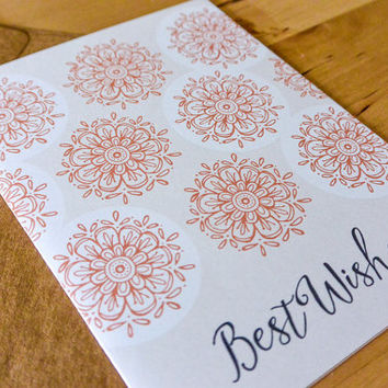 Best Wishes Greeting Card - hand-drawn, paper goods, stationary, greeting card, wedding, engagement, bridal shower