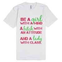 Be A-Unisex White T-Shirt