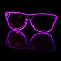 EL Wire Clear Purple Light Up Sunglasses : LED Wire Glasses and Shades from RaveReady