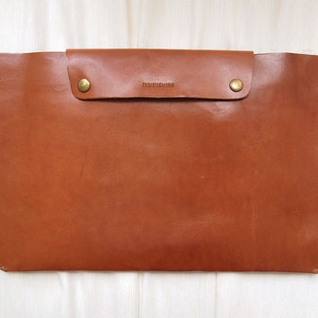 "Personalized Leather 11"" Macbook Air Case"