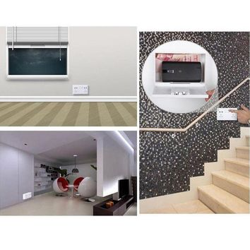 Wall Safe Electrical Outlet Socket Diversion Hidden Home Security Secret Stash Outlet Plug Box Vault Secret Storage