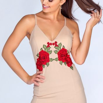 Flower Bomb Dress - Taupe