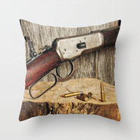 Winchester Model 53 Throw Pillow by Captive Images Photography | Society6