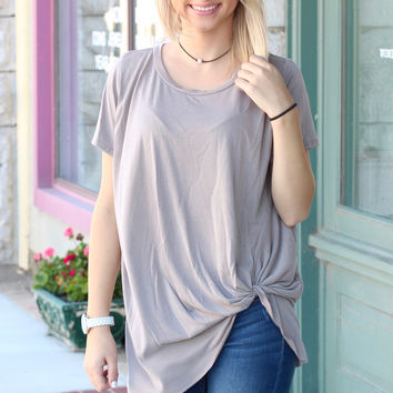 Get Twisted Comfy Short Sleeve Basic {Mocha}