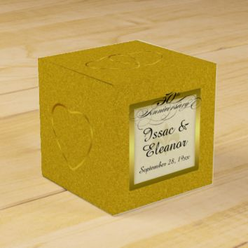 50th Wedding Anniversary Glitter Party Favor Boxes