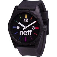 Neff Men's NF0201-black spectrum Custom Designed Neff and PU Strap black spectrum Watch