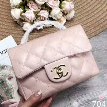 Chanel 2018 new women's exquisite luxury handbag F-AGG-CZDL Pink