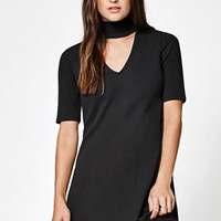LA Hearts Ribbed Choker 3/4 Sleeve Dress at PacSun.com