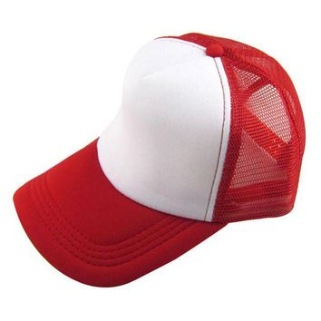 VONG2W 2017 fashion women  Unisex Casual Hat Solid Baseball Cap Trucker Mesh Blank Visor Hat Adjustable  A#
