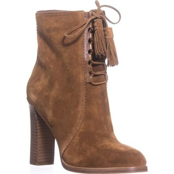 Michael Kors Collection Odile Lace Up Booties, Luggage, 7 US / 37 EU