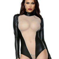 Long Sleeve Fetish Body Suit-Fetish Clothes