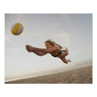 USA, California, Los Angeles, woman playing