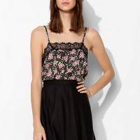 Pins And Needles Lace-Trim Pin Dot Cami - Urban Outfitters