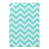baby blue Chevron Pattern iPad Mini Case. from Zazzle.com