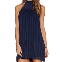 BCBGeneration Mock Neck Mini Dress in Navy