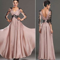 New Sexy Lace Evening Party Long Ball Prom Gown Formal Bridesmaid Cocktail Dress