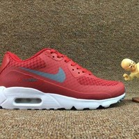 DCCKBTW Nike Air Max 90 Ultra Essential Team Red University Red White Dark Grey Men's Sport Running Shoes