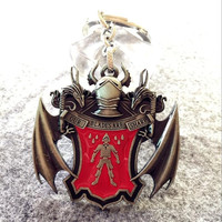 Game of Thrones House Bolton Our Blades Are Sharp Silver Keychain