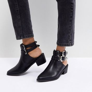 Truffle Collection Western Buckle CutOut Boot at asos.com