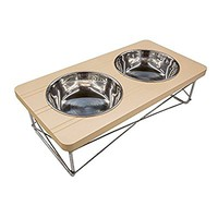 Easyology Stainless Steel Elevated Feeder Bowls for Cats & Small Dogs