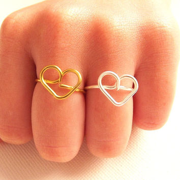 Friendship Heart Ring - Gift for friend - Friendship gift idea - BFF Ring - Friendship Ring  by Tiny Box