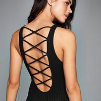 Womens Strappy Back Bodysuit | Womens Tops | Abercrombie.com