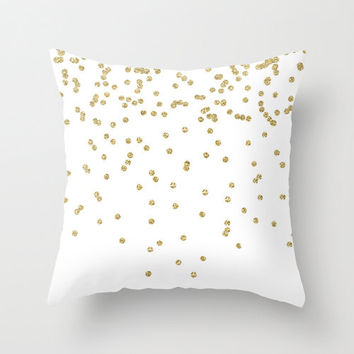 Gold Pillow - Velveteen Gold Pillow Cover - Gold Decorative Pillow - Gift Ideas for Women - Gold Accent Pillow - Gift Ideas for Friends