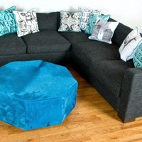 www.roomservicestore.com - Shoreclub Sectional in Charcoal Textured Fabric