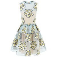 Red Valentino Sheer Jacquard Daisy Dress