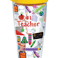 Hallmark - #1 Teacher Wrap with Lid | 24oz Tumbler | Tervis®
