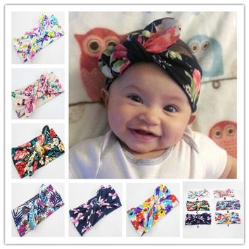 0-4Y Cotton Bowknot  Baby Girl Child Infant Toddler Head Wraps Bandana Headband