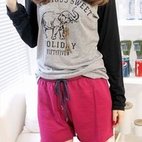 Elephant Tee for Women Gray TFB617