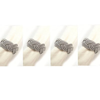 Sailor's Knot Napkin Rings - Set of 4 in Silver