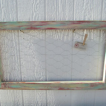 Chicken Wire Picture Frame ~ FREE SHIPPING