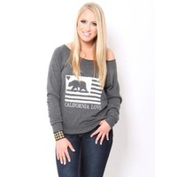 California Love Pullover - Novelty Tanks - Novelty Knit Tops - Tops