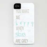 YOU MAKE ME HAPPY iPhone & iPod Case by Monika Strigel