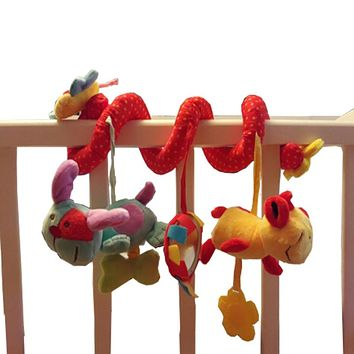 Kids Baby Toys Mobile Musical Bed Stroller Playing Crib Bed Hanging Bell Baby Toys for Newborns Children Baby Rattles Dolls