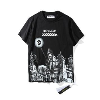 "AUGUAU Off-White ""Off-Black"" Roman Massacre T-Shirt"