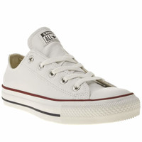womens converse white all star oxford leather trainers