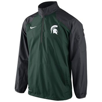 Nike Michigan State Spartans Lockdown Half-Zip Storm-FIT Performance Jacket - Men