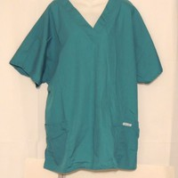 Green Scrubs Top Size 1X  Cherokee