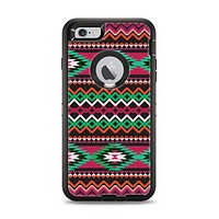 The Vector Green & Pink Aztec Pattern Apple iPhone 6 Plus Otterbox Defender Case Skin Set