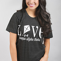 Traditional Greek Love Tee - Kappa Alpha Theta