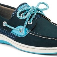 Sperry Top-Sider Bluefish Sport Mesh 2-Eye Boat Shoe Navy/TurquoiseSportMesh, Size 6M  Women's Shoes