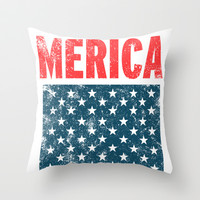 Merica  Throw Pillow by LookHUMAN