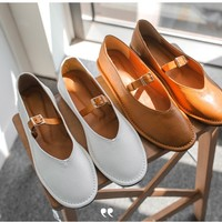 Buckle Strap Loafers