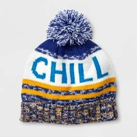 Boys' Pom Chill Beanie - Cat & Jack™ Blue