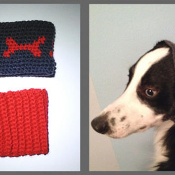 Crochet Dog Headbands Ear Warmers Set for small dogs - Crochet Dog Hat - Dog Winter Accessories - Dog Clothes - Dog Scarf - Pet Clothes